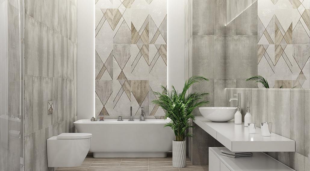 Плитка для ванной Керамическая плитка Global / Глобал АЗОРИ: цвет - серый; размер плитки -  - Купить в интернет-магазине Мир Керамики