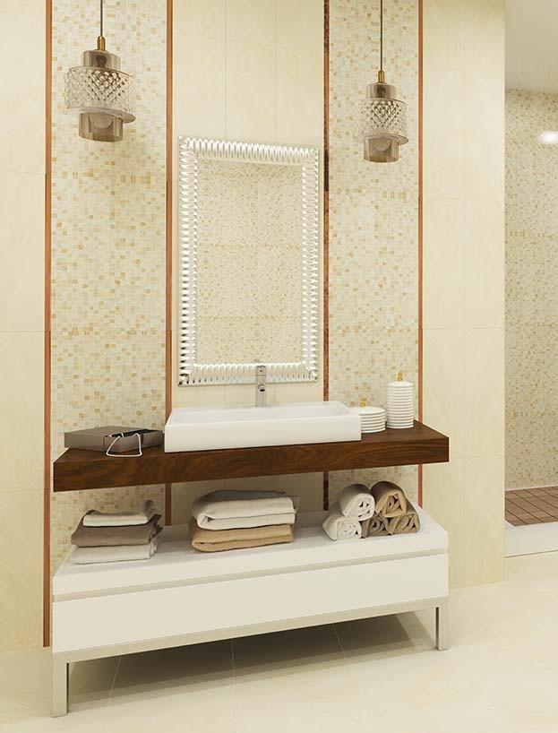 Настенная плитка Керамическая плитка Атриум БЕЛЛЕЗА / BELLEZA: цвет - бежевый; размер плитки - 20x60 - Купить в интернет-магазине Мир Керамики