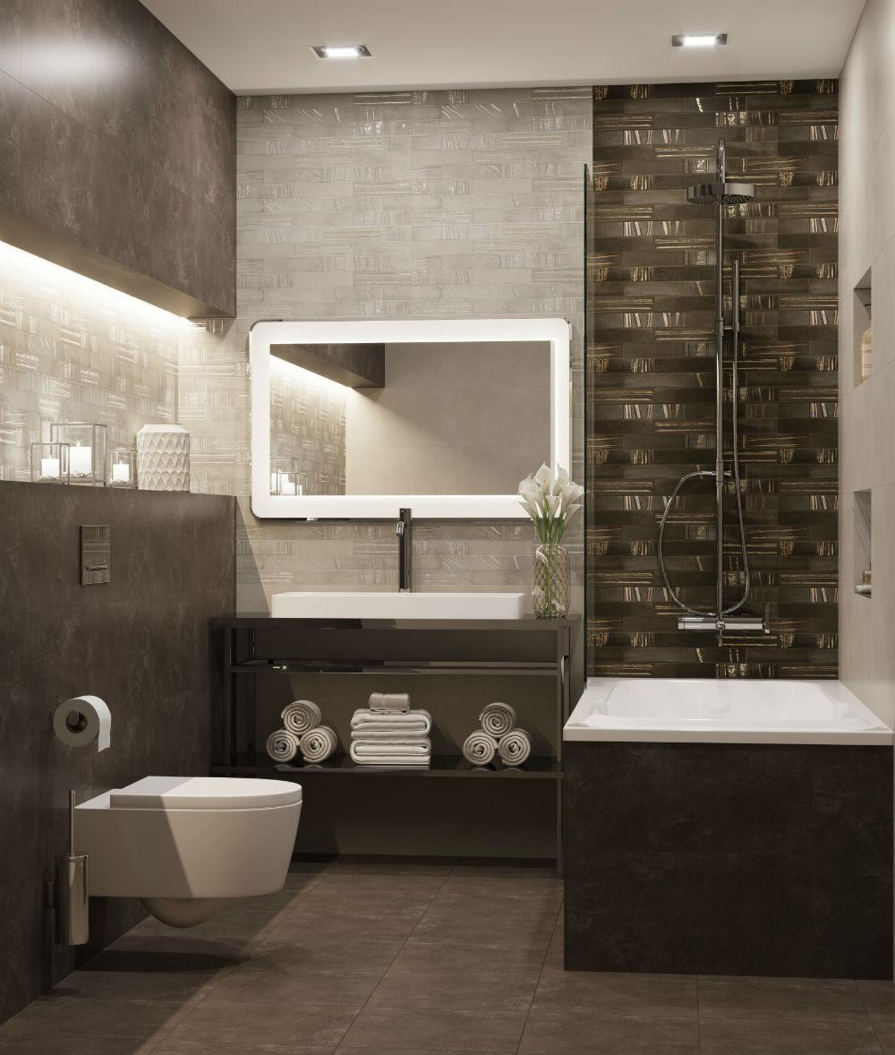 Плитка для ванной Керамическая плитка Кайлас БЕЛЛЕЗА / BELLEZA: цвет - бежевый; размер плитки - 30x60 - Купить в интернет-магазине Мир Керамики
