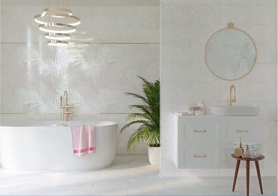 Плитка для ванной Керамическая плитка Asai / Асаи Cersanit: цвет - зеленый; размер плитки - 25x75 - Купить в интернет-магазине Мир Керамики