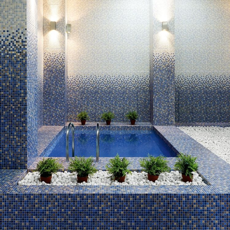 Настенная плитка Мозаичная плитка Гламур Керамин: цвет - синий; размер плитки - 27.5x40 - Купить в интернет-магазине Мир Керамики