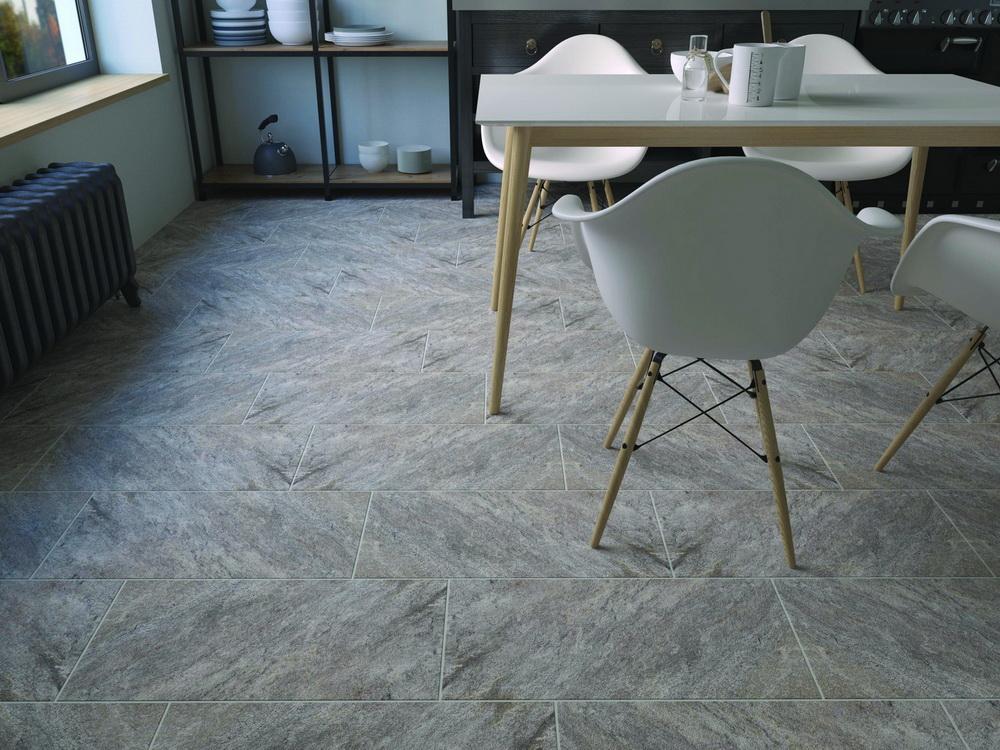Плитка для пола Керамогранит Кварцит Керамин: цвет - темно-серый; размер плитки - 30x60 - Купить в интернет-магазине Мир Керамики