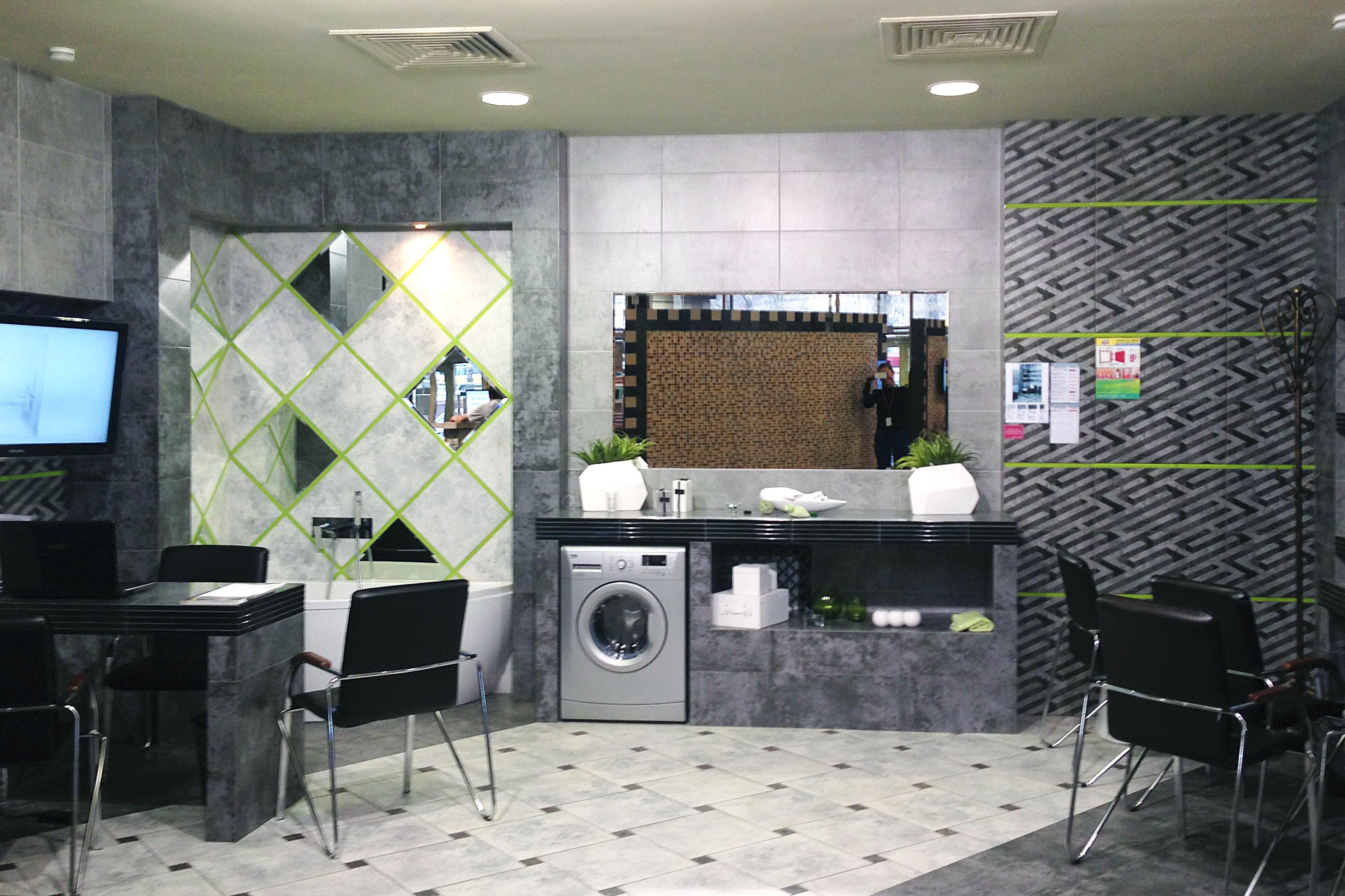 Плитка для ванной Керамическая плитка Нью-Йорк Керамин: цвет - темно-серый; размер плитки -  - Купить в интернет-магазине Мир Керамики
