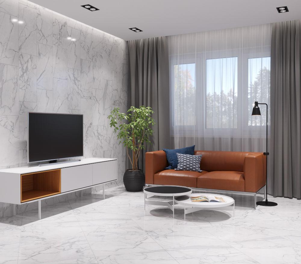 Плитка для ванной Керамогранит Marble Trend / Марбл Тренд KERRANOVA: цвет - белый; размер плитки -  - Купить в интернет-магазине Мир Керамики