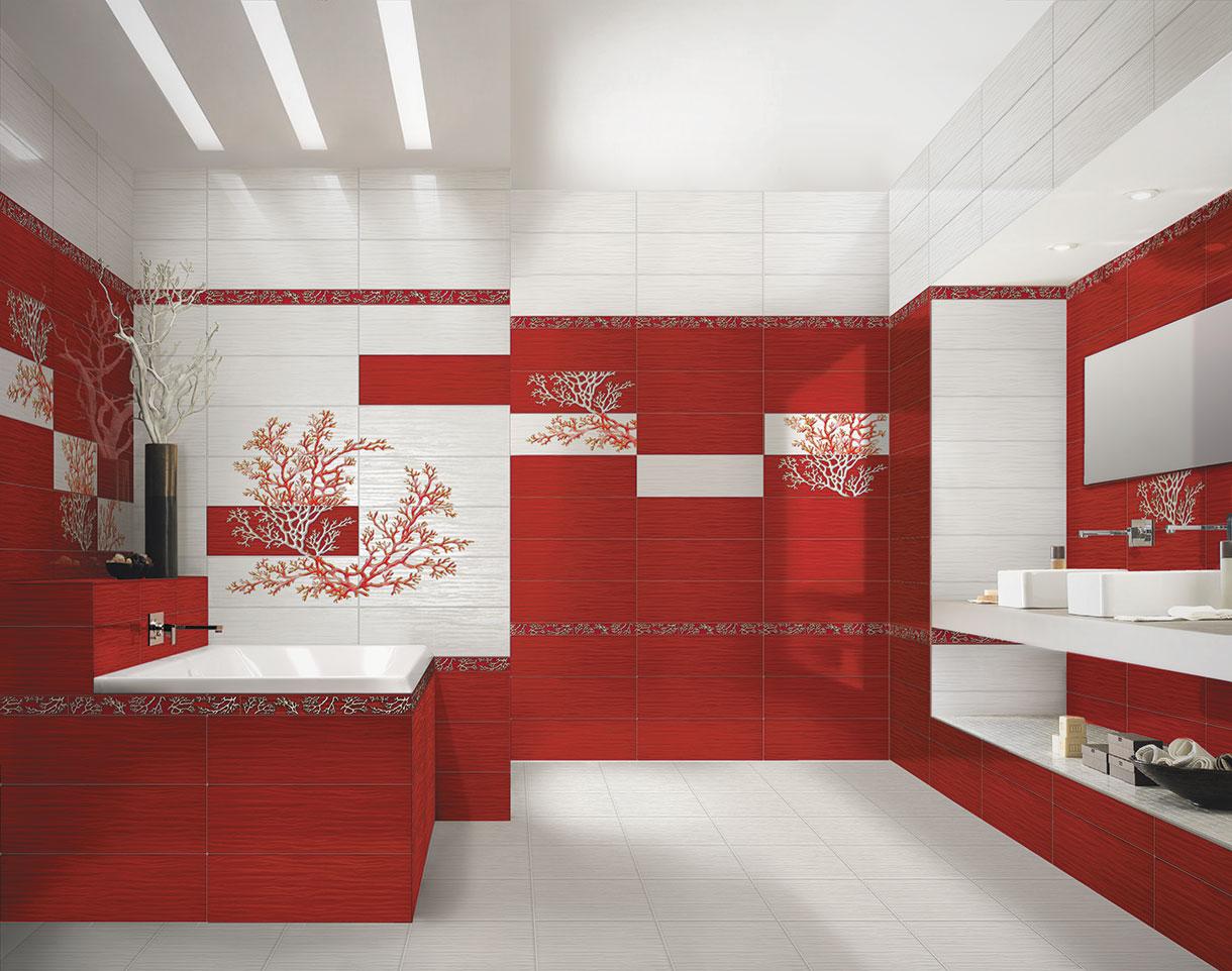 Настенная плитка Керамическая плитка Коралл Ceramique Imperiale: цвет - белый; размер плитки - 20x60 - Купить в интернет-магазине Мир Керамики